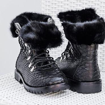 Обувь ручной работы. Ярмарка Мастеров - ручная работа Ботинки из питона. Handmade.