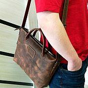 Мужская сумка ручной работы. Ярмарка Мастеров - ручная работа Сумка кожаная мужская. Handmade.