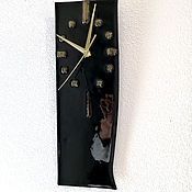 Для дома и интерьера handmade. Livemaster - original item Black cat watch. Handmade.