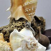 Украшения ручной работы. Ярмарка Мастеров - ручная работа Кольцо из серебра и золота с сапфиром. Handmade.