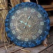 Для дома и интерьера ручной работы. Ярмарка Мастеров - ручная работа Светящиеся часы 55 см Майянское золото. Handmade.