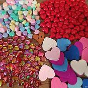 Бусины ручной работы. Ярмарка Мастеров - ручная работа Бусины сердечки, сердце. Красные. Handmade.