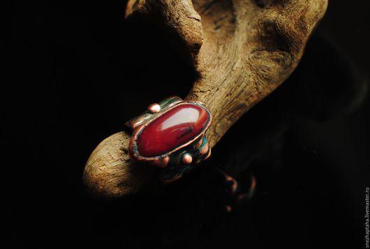"""Кольца ручной работы. Ярмарка Мастеров - ручная работа. Купить кольцо""""Бордо"""". Handmade. Бордовый, гальваника, стекло цветное"""