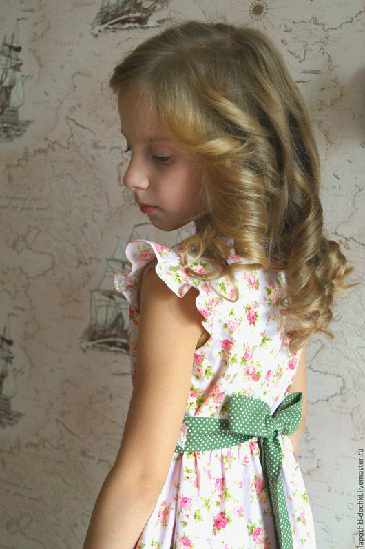 Одежда для девочек, ручной работы. Ярмарка Мастеров - ручная работа. Купить платье для девочки Нежность розового из хлопка. Handmade. Розовый