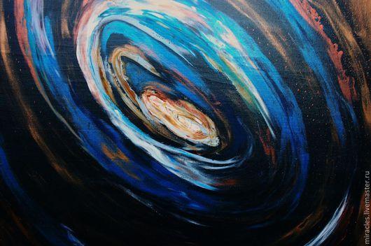 """Абстракция ручной работы. Ярмарка Мастеров - ручная работа. Купить Картина на холсте """"Рождение сверхновой"""". Handmade. Абстракция, необычная картина"""