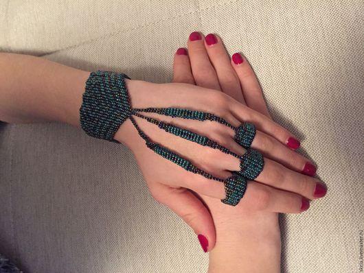 Браслеты ручной работы. Ярмарка Мастеров - ручная работа. Купить Слейв браслет. Handmade. Комбинированный, браслет, слейв-браслет, слейв
