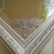 Для дома и интерьера ручной работы. Ярмарка Мастеров - ручная работа Зеркало настенное, настольное Серебряный иней. Handmade.