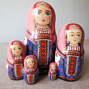 Русский стиль handmade. Livemaster - original item Matryoshka five-seater.Girl Natalia in the costume of Arkhangelsk province. Handmade.