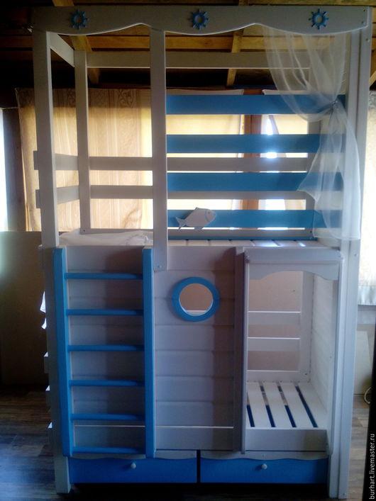 """Детская ручной работы. Ярмарка Мастеров - ручная работа. Купить Детская кровать-чердак """"Яхта"""". Handmade. Кровать, для детской комнаты"""