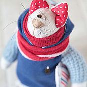Куклы и игрушки ручной работы. Ярмарка Мастеров - ручная работа Коты. Кот с рыбкой. Handmade.