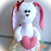 """Куклы и игрушки ручной работы. Ярмарка Мастеров - ручная работа Авторская текстильная игрушка """"Зайка под елку"""". Handmade."""