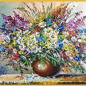 Картины ручной работы. Ярмарка Мастеров - ручная работа Летние ромашки и полевые цветы. Handmade.