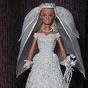 Куклы и игрушки ручной работы. Ярмарка Мастеров - ручная работа Свадебный наряд. Handmade.