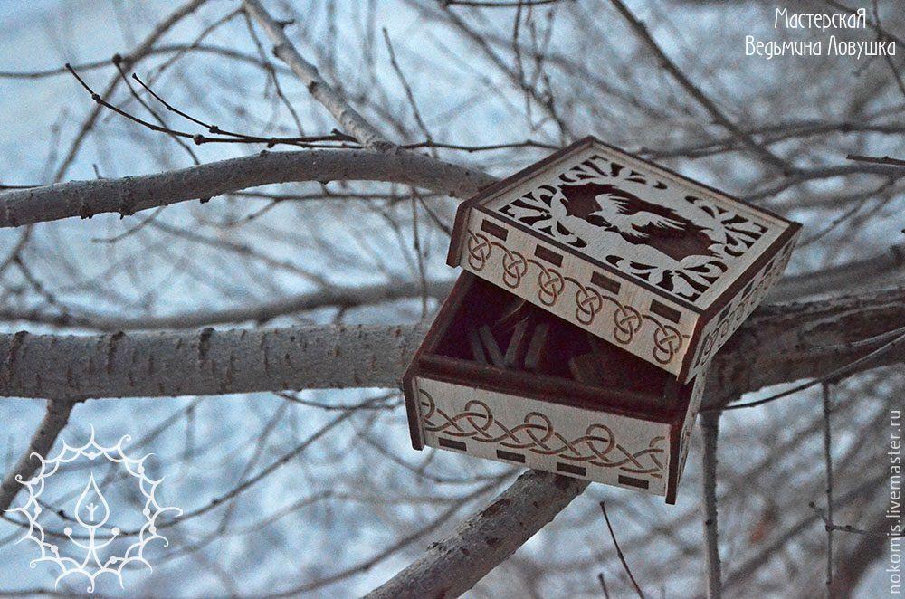"""Гадания ручной работы. Ярмарка Мастеров - ручная работа. Купить Набор рун """"Ворон"""". Handmade. Белый, гадание, руны из дерева"""