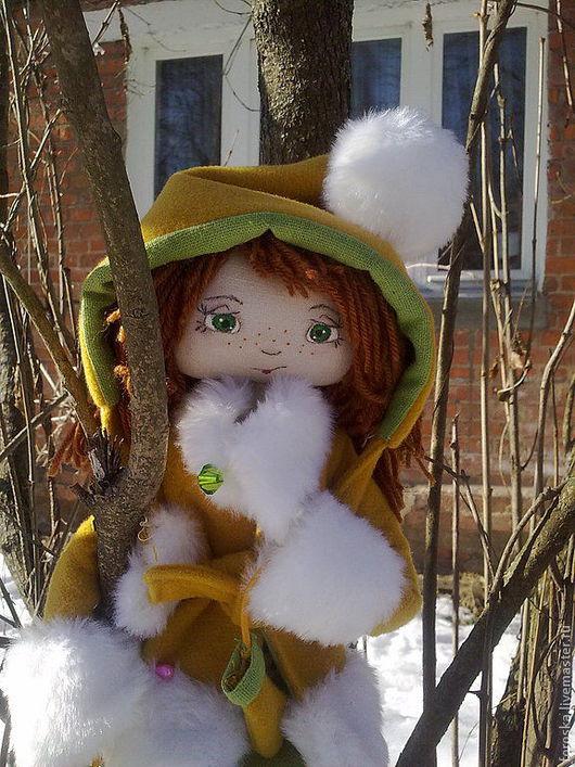 Коллекционные куклы ручной работы. Ярмарка Мастеров - ручная работа. Купить кукла Клепа. Handmade. Рыжий, хлопок 100%