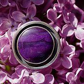 """Украшения handmade. Livemaster - original item Кольцо с сугилитом """"Фиолетовая планета"""", серебро. Handmade."""