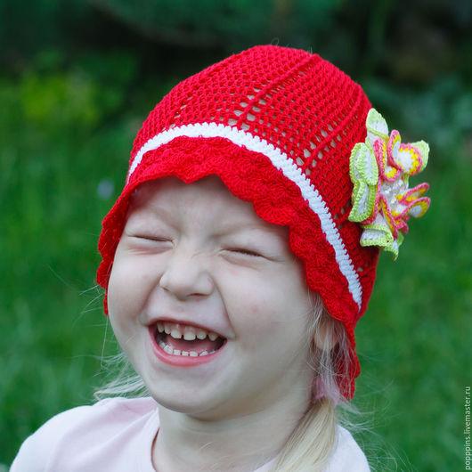 Шапки и шарфы ручной работы. Ярмарка Мастеров - ручная работа. Купить Шапочка Красная шапочка. Handmade. Шапочка, шапочка детская