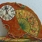 """Для дома и интерьера ручной работы. Ярмарка Мастеров - ручная работа Часы """"Веер"""". Handmade."""