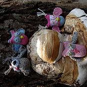 Украшения ручной работы. Ярмарка Мастеров - ручная работа Амигуруми сова и мышь-закладка. Handmade.