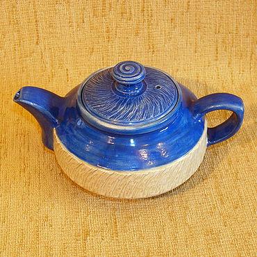 """Посуда ручной работы. Ярмарка Мастеров - ручная работа Чайник """"васильковый 2"""". Handmade."""