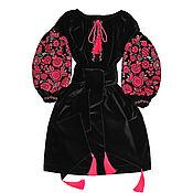"Одежда handmade. Livemaster - original item Velvet dress ""Miracle Tree"". Handmade."
