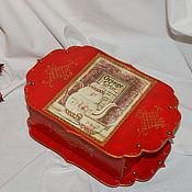 Для дома и интерьера ручной работы. Ярмарка Мастеров - ручная работа Коробка для чая,,Яркий вкус,,. Handmade.