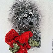 Куклы и игрушки ручной работы. Ярмарка Мастеров - ручная работа Ёжик с маком. Handmade.