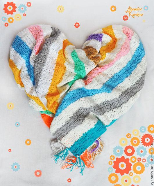 Пледы и одеяла ручной работы. Ярмарка Мастеров - ручная работа. Купить Детский плед «Близнецы-1». Handmade. Плед, радуга