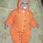 Работы для детей, ручной работы. Ярмарка Мастеров - ручная работа Костюм для новорожденного Апельсиновый зефир. Handmade.