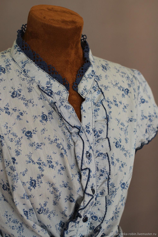 Блузка 20 Голубая роза, Блузки, Орел, Фото №1