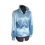 Одежда ручной работы. Ярмарка Мастеров - ручная работа Блуза атласная Марго. Handmade.
