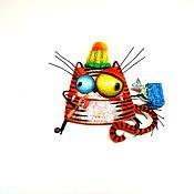 Украшения handmade. Livemaster - original item Tiger brooch