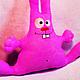 Игрушки животные, ручной работы. Ярмарка Мастеров - ручная работа. Купить Набор для творчества Заяц розовый. Handmade. Белый, подарок