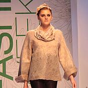 Одежда ручной работы. Ярмарка Мастеров - ручная работа Жемчужно-серый свитер-паутинка. Handmade.