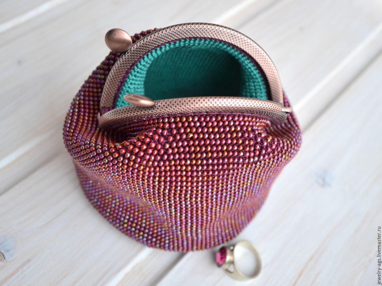 Вязание бисером кошелек с фермуаром 82