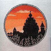 """Картины и панно ручной работы. Ярмарка Мастеров - ручная работа Вышивка крестом """"Кижи"""". Handmade."""