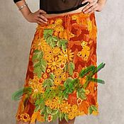 Одежда ручной работы. Ярмарка Мастеров - ручная работа Юбка - Осень. Handmade.