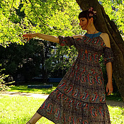 """Одежда ручной работы. Ярмарка Мастеров - ручная работа Бохо-платье """"Сон в летнюю ночь"""". Handmade."""