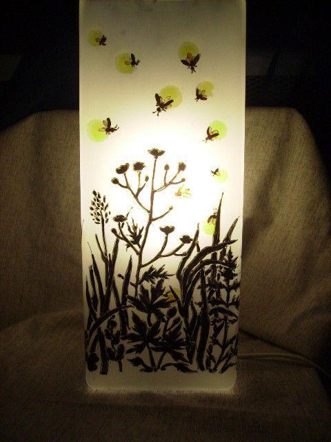 """Освещение ручной работы. Ярмарка Мастеров - ручная работа. Купить Светильник-ночник """"Светляки"""". Handmade. Светильник, тимофеевка, стекло"""