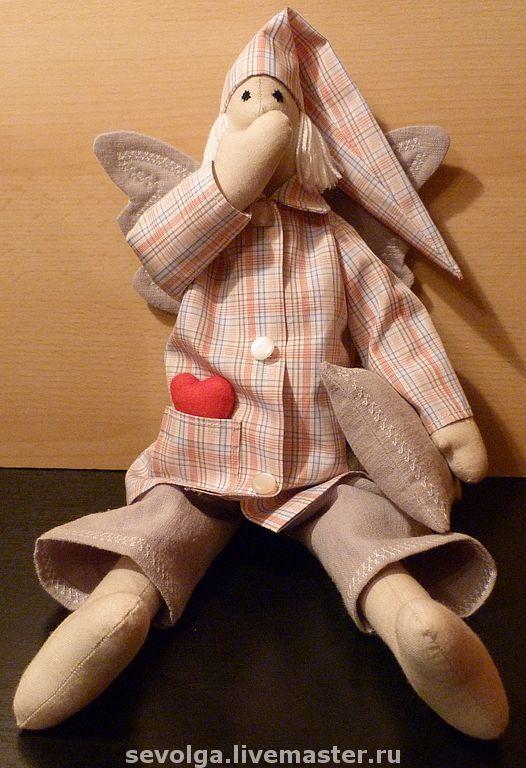 Куклы Тильды ручной работы. Ярмарка Мастеров - ручная работа. Купить Сплюшкин. Handmade. Тильда, сплюшка, пуговицы