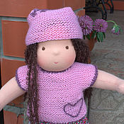 Куклы и игрушки ручной работы. Ярмарка Мастеров - ручная работа Текстильная кукла Милая девочка. Handmade.