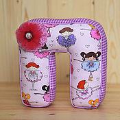 Подарки к праздникам ручной работы. Ярмарка Мастеров - ручная работа мягкая буква для девочки. Handmade.