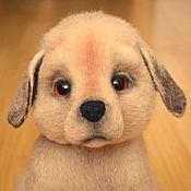 Подарки к праздникам handmade. Livemaster - original item Felt puppy Trezor.(interior product).Repeat.. Handmade.