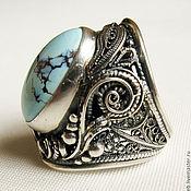Украшения ручной работы. Ярмарка Мастеров - ручная работа Серебрянное кольцо с бирюзой. Handmade.