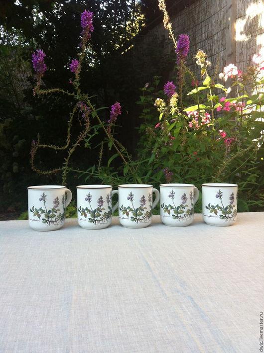 Винтажная посуда. Ярмарка Мастеров - ручная работа. Купить Чашки Villeroy&Boch, Botanica, Люксембург. Handmade. Чашки, старина, villeroy boch