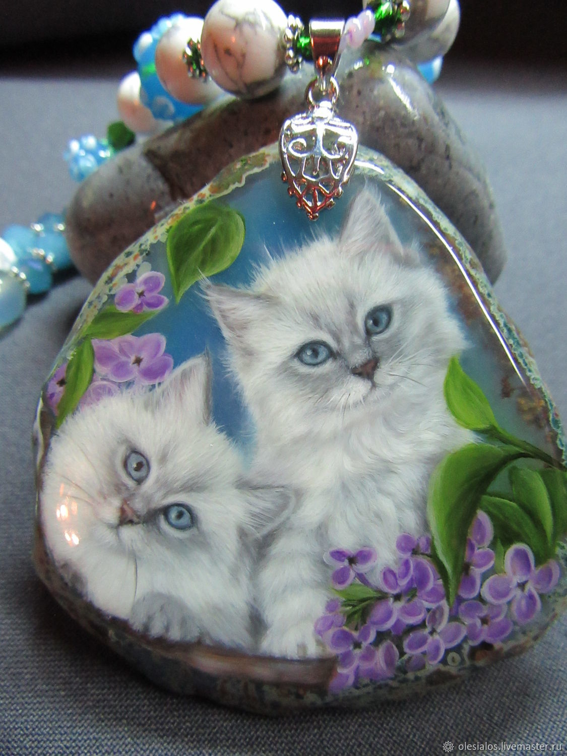Pendant with kittens 'Searchfile live!', Pendants, Biisk,  Фото №1