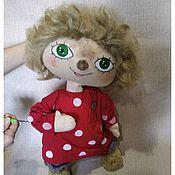 Куклы и игрушки handmade. Livemaster - original item The puppet theatre.Tablet doll Hare. Handmade.