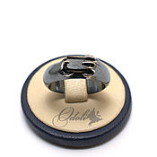 Украшения handmade. Livemaster - original item Men`s silver 925 ring with black tourmaline. Handmade.