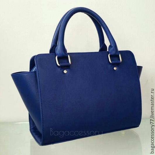 Женские сумки ручной работы. Ярмарка Мастеров - ручная работа. Купить Сумка из натуральной кожи. Handmade. Тёмно-синий, сумка