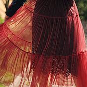 Одежда handmade. Livemaster - original item Unique evening skirt tiers